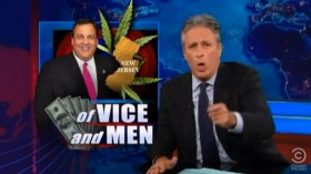Jon Stewart Slams Gov Christie Over Marijuana Inconsistency