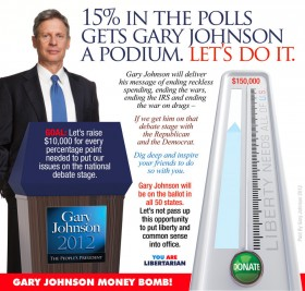 Gary Johnson – Help Him End the War On Drugs