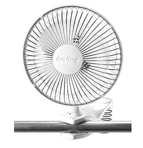 Grow Room Equipment - Air King 9145 6-Inch 2-Speed Clip-On Fan