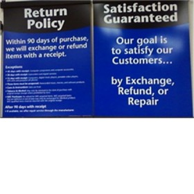 Free returns by mail or at your store.