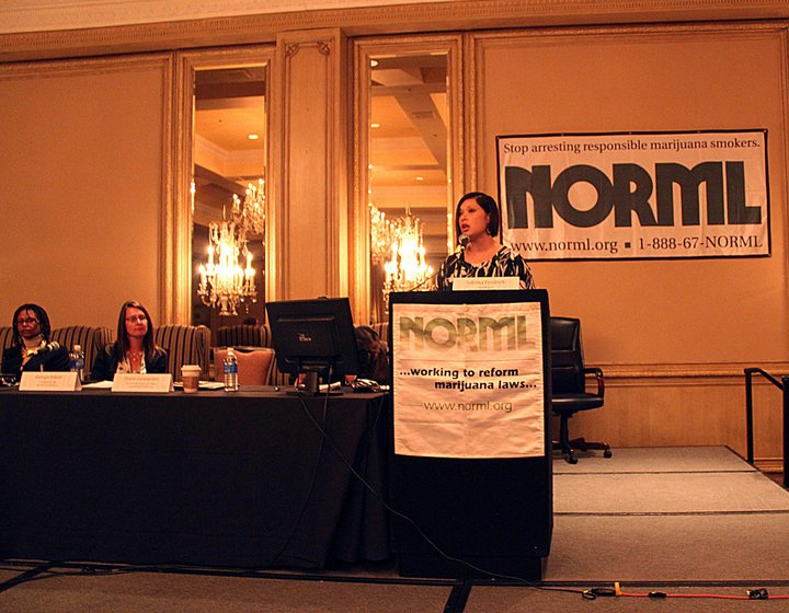 Diane speaks at the NORML Conference - Denver 2011 Photo:  Steve Bloom, Celebstoner