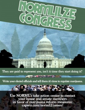 NORMLIZE CONGRESS: Marijuana Law Reform Heating Up in 2013