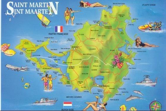 Sint Maarten Map - Weedist Destinations