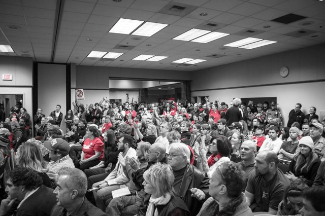 WA Liquor Control Board Hearing Draws 700+ Concerned Citizens, source: https://www.facebook.com/photo.php?fbid=613487598716071&set=a.613487375382760.1073741831.100001645105244&type=1&theater