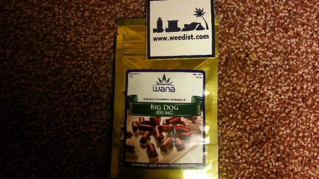 High Tolerance Edibles Review: Wana Big Dog Chew, Source: Prospero Weedist