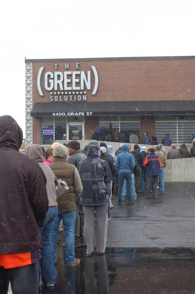 denver dispensaries. green solution denver east - recreational marijuana dispensary long lines, tip for buying legal weed dispensaries r