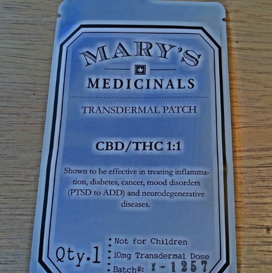 Product Review: Mary's Medicinals Transdermal Patch - Weedist