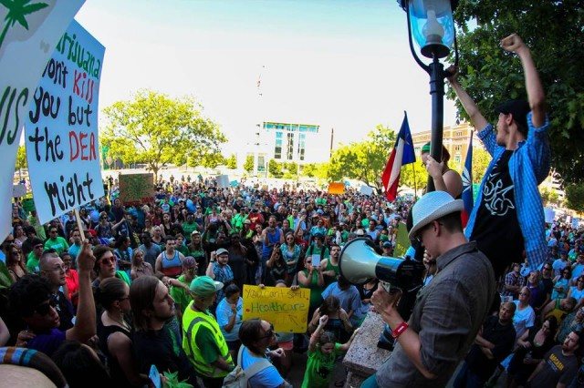 Over 2,000 Texans Protest Unjust Marijuana Laws With DFW NORML, Source: http://blog.norml.org/2014/05/05/over-2000-texans-protest-unjust-marijuana-laws-with-dfw-norml/