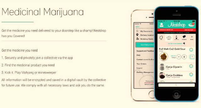 Nestdrop Develops Medical Cannabis Delivery App