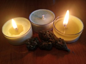Product Review: Cannabis Tea Light Candles