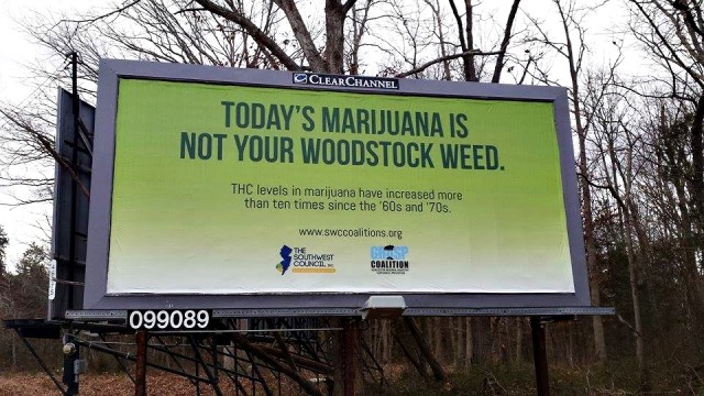 Billboards Touting Dangers of Cannabis Pop Up in New Jersey