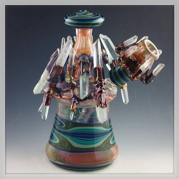 Piece of the Week | Authentic Crystal Fused Dab Rigs - Weedist