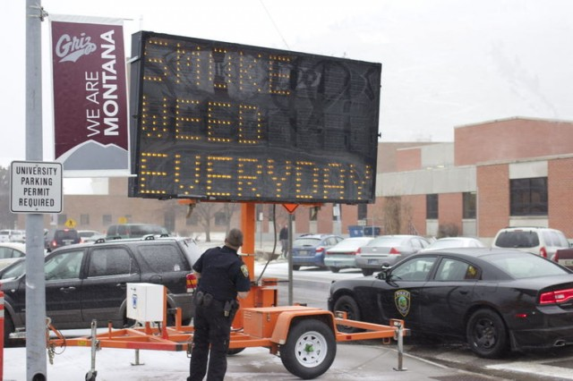 Missoula Traffic Sign Hacked to Display 'Smoke Weed Every Day'