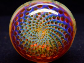 Piece of the Week | Rainbow Honeycomb Pipe