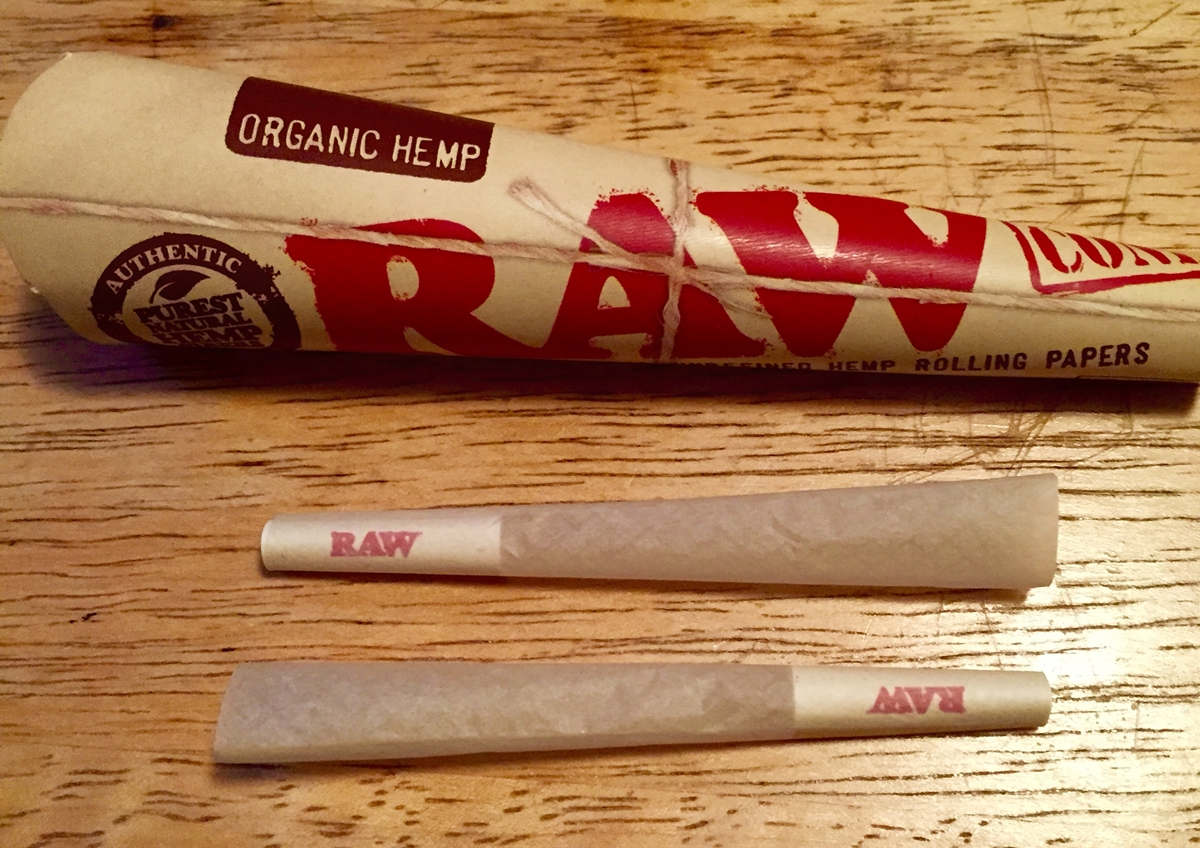 raw paper cones