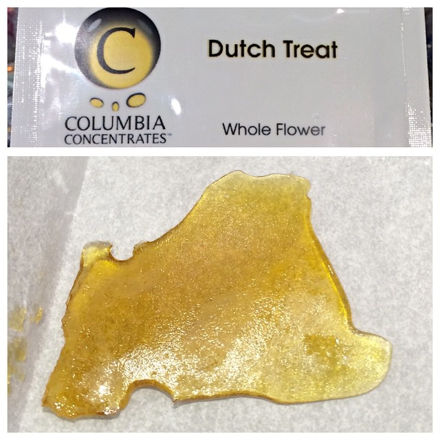 Instafire: Nice Slab of Whole Flower Dutch Treat, Source: https://instagram.com/columbiaconcentrates