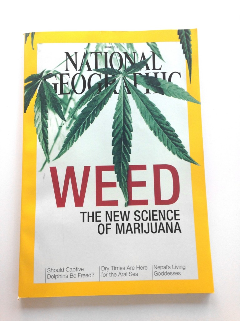 National Geographic Dedicates Cover to Cannabis, Source: http://i1.wp.com/boingboing.net/wp-content/uploads/2015/05/IMG_8399-copy.jpg?resize=2448%2C3264