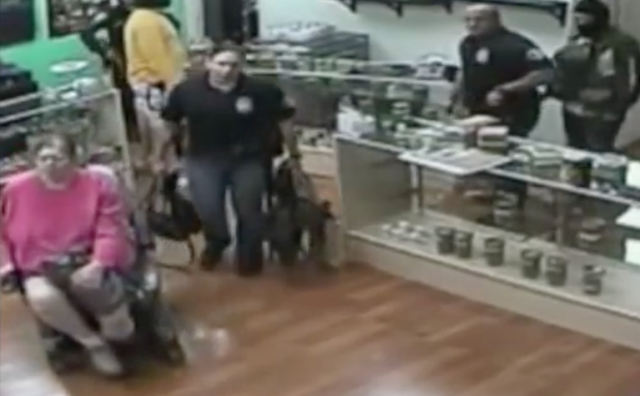 Cops Raid Dispensary, Eat Edibles, Threaten Assault of Woman With Disability, Source: http://i.imgur.com/0Mrfr7S.png