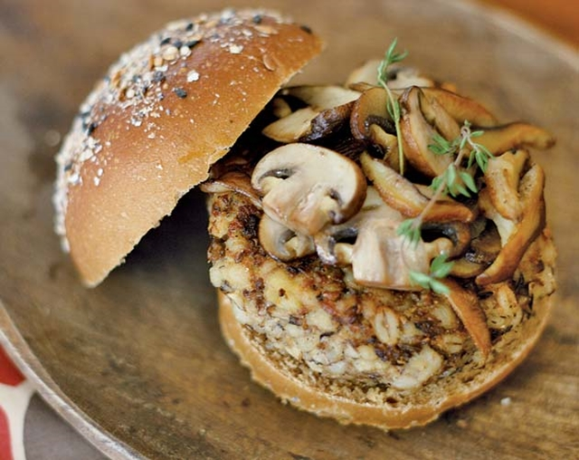 Great Edibles Recipes: Mushroom Burgers, Source: http://www.motherjones.com/files/imagecache/top-of-content-main/mushroom-barley-burgerwide.jpg
